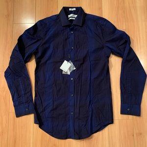 Calvin Klein navy button down dress shirt